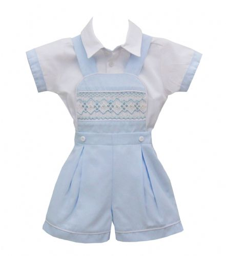 Pretty Originals Boys Smocked Set